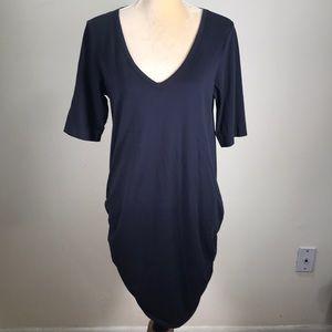 Moda International Ruched Cotton Tunic Dress